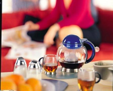 德国利快HOT晶茶色不锈钢底托茶壶