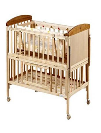 好孩子Goodbaby多功能环保实木无漆婴儿床带摇篮收纳式婴儿床MC283-J311