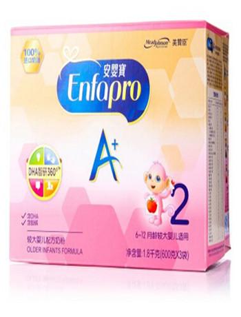 美赞臣(MeadJohnson)2段(6-12月龄较大婴儿适用)安婴宝A+600克X3