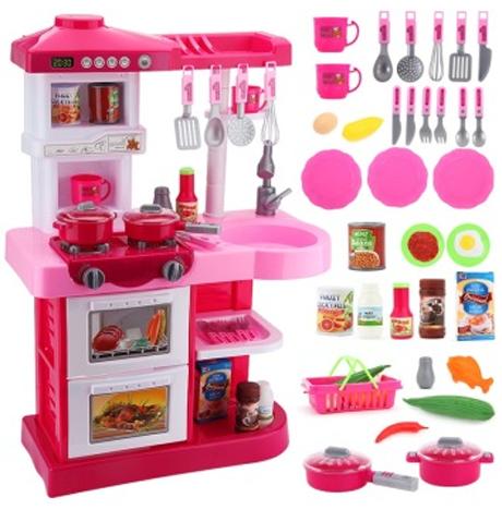 贝恩施 益智玩具 儿童仿真过家家玩具角色扮演 百变厨房套装