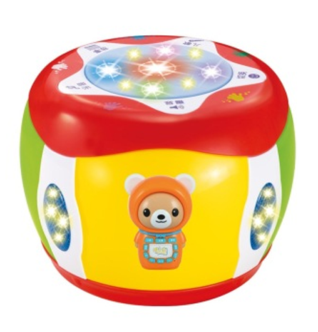 贝恩施 益智玩具 儿童玩具触摸故事手拍鼓222 可外接MP3