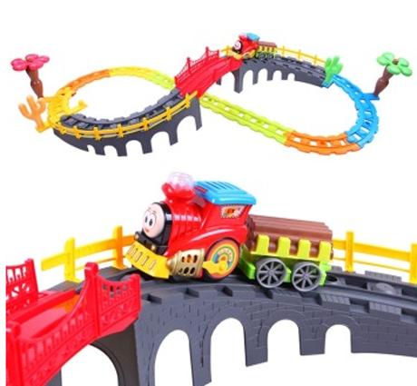 贝恩施 儿童玩具 托马斯积木益智玩具轨道火车1688组合装