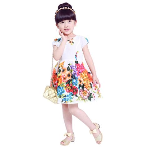 笛莎(DEESHA)品牌童装2015夏季新品女童儿童连衣裙15143AZ