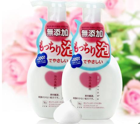 日本进口正品COW牛乳石碱泡沫洗面奶男女美白控油洁面乳无添加2瓶