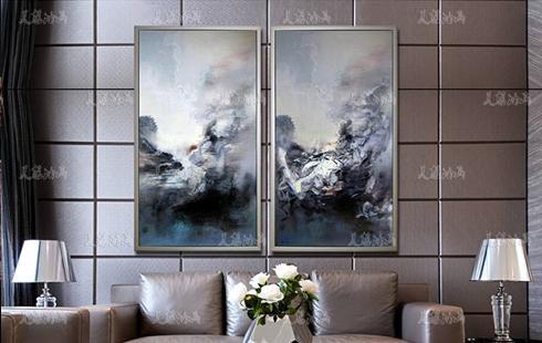 赵无极抽象油画客厅装饰画现代简约壁画卧室
