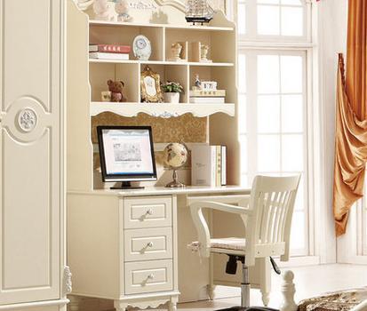鹏景雅居 实木书桌柜儿童书桌电脑桌子写字台