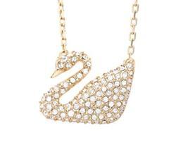 SWAROVSKI Swan 金色天鹅水晶项链
