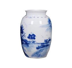 高档仿古青花瓷花瓶摆件客厅