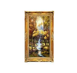 油画客厅装饰画欧式玄关竖版