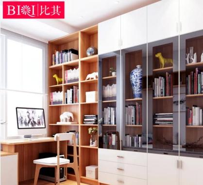 整体书柜书架自由组合 带玻璃门书柜
