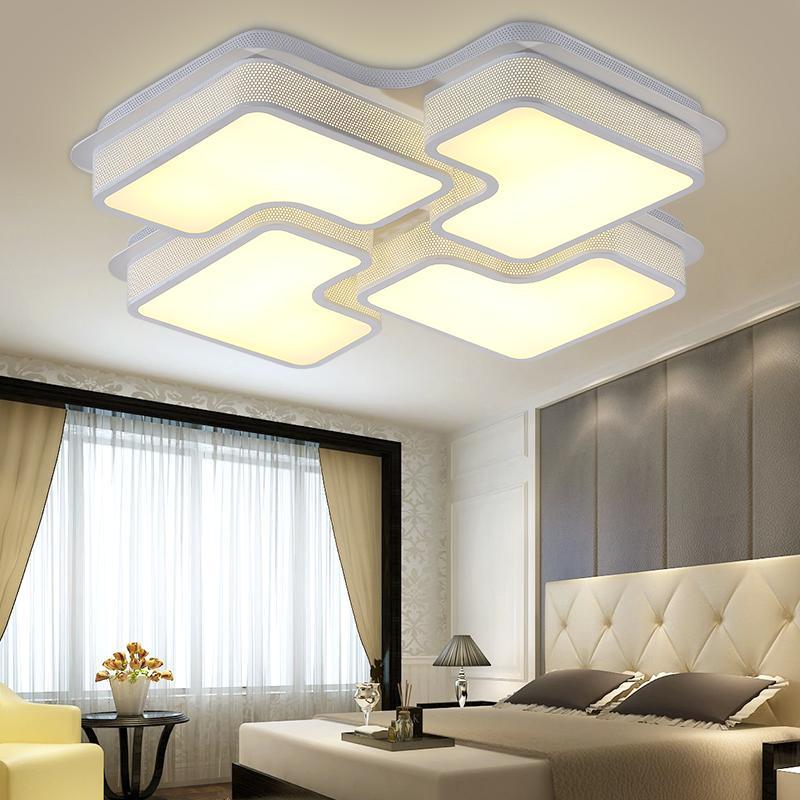 现代简约LED大气卧室吸顶灯客厅创意个性书房艺术餐厅灯具带遥控