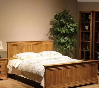纯实木床简约欧式法式白橡木双人床