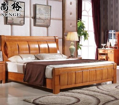 实木床储物气动高箱床1.81.5米现代简约中式卧室