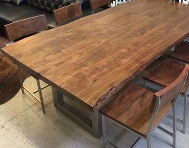 美式复古铁艺办公桌酒吧桌长方桌餐桌