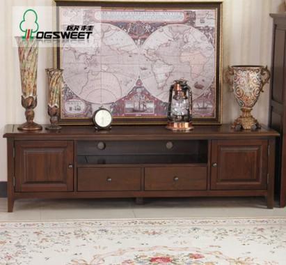 欧桂OGSWEET欧式美式实木电视柜美式乡村实木电视柜1号
