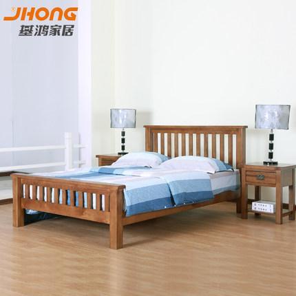 基鸿家居纯实木床进口白橡木卧室家具环保双人床1.5米1.8米特价