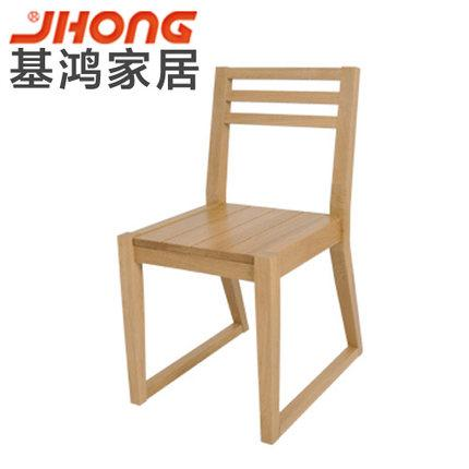 基鸿家居健康环保纯实木餐椅进口纯白橡木餐厅家具书桌椅子特价
