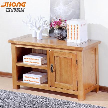 基鸿全实木电视柜白橡木小户型地柜环保健康田园美式客厅卧室家具