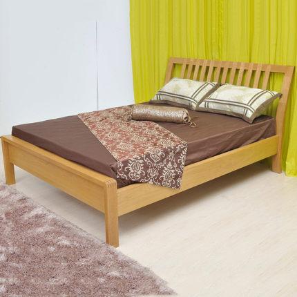 基鸿家居 纯实木床 进口白橡木卧室家具环保双人床 1.5米1.8米