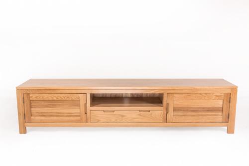 原始原素纯全实木电视柜北欧简约现代橡木家具1.5米1.8米2米