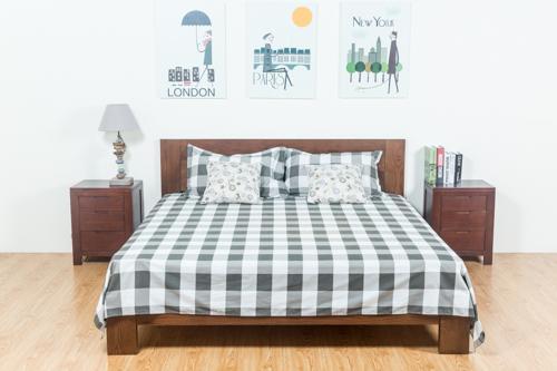 原始原素 欧式美式乡村全实木床1.51.8米双人床黑胡桃橡木床婚床