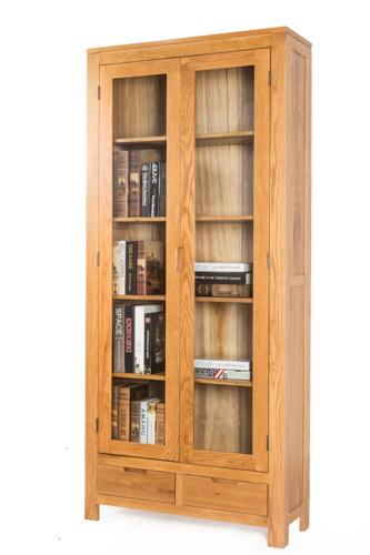 维莎日式纯全实木书柜白橡木书房家具组合书柜环保展示柜储物柜