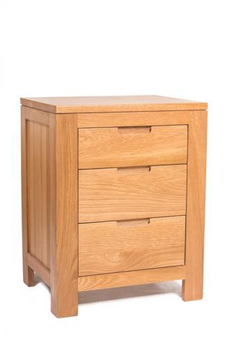 维莎欧式简约储物柜实木床头柜带抽屉收纳柜橡木原木边柜角柜北欧