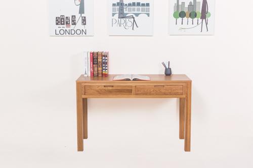源氏木语纯实木写字台北欧式简约白橡木书桌电脑桌仿古办公桌画桌