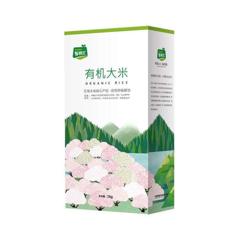 有机汇-优选五常核心产区有机稻花香大米 1KG