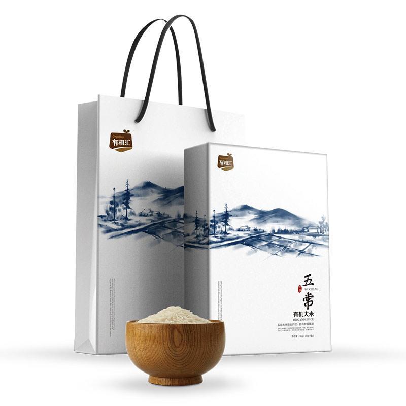 有机汇- 甄选五常核心产区有机稻花香大米精品礼盒 3KG