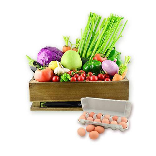 有机汇-有机菜蛋营养套餐 基地-家庭配送卡年/月卡