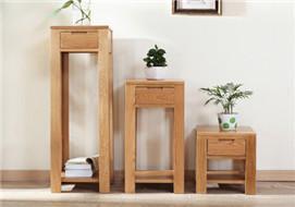 家酉家具纯实木花架白橡木置物架花盆架客厅家具北欧简约环保新品
