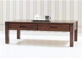 家酉家具纯实木茶几橡木胡桃木色抽屉咖啡桌简约小美现代客厅家具